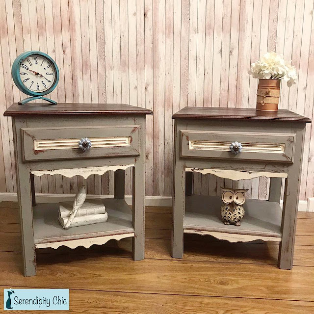 end tables with ceramic knobs