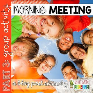 Great ideas and activities for group activities for morning meetings