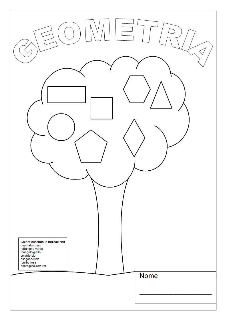 maestralucia  copertina quaderno geometria classe 4