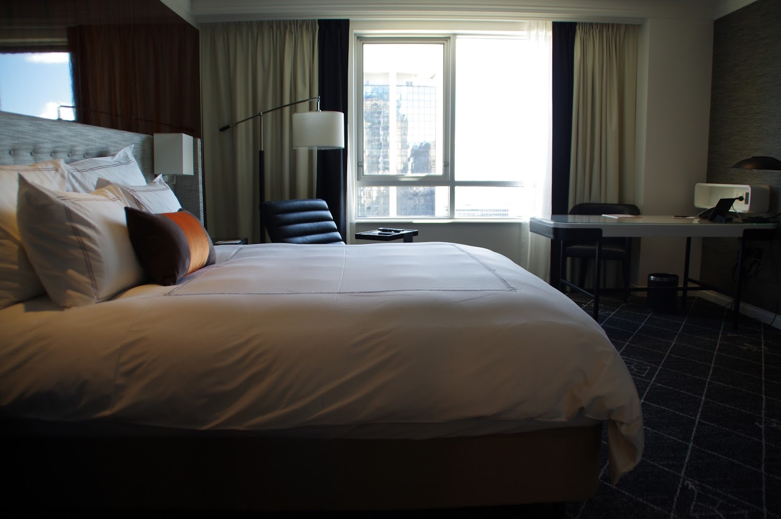 View from our bed in swissotel sydney