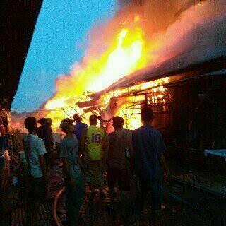 Pasar Indralaya Terbakar