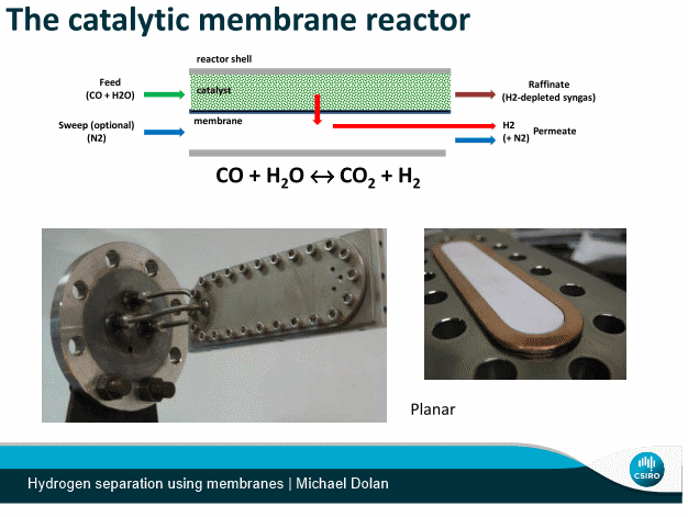 Hydrogen separation using membranes - Michael Dolan - CSIRO