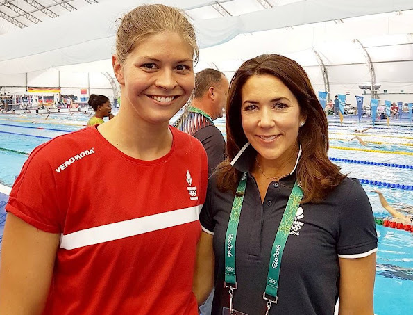 Crown Princess Mary of Denmark met with Danish athletes before Rio de Janeiro 2016 Summer Olympics