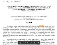 Contoh Artikel Jurnal Penelitian Tentang Produksi Kelapa Sawit Pdf Download Gratis
