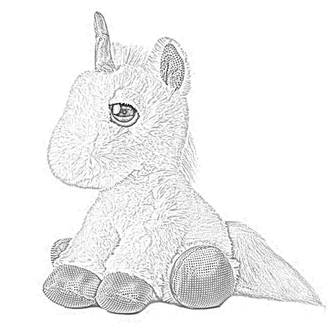 ty big eye coloring pages | The Holiday Site: Coloring Pages of Stuffed Unicorns ...