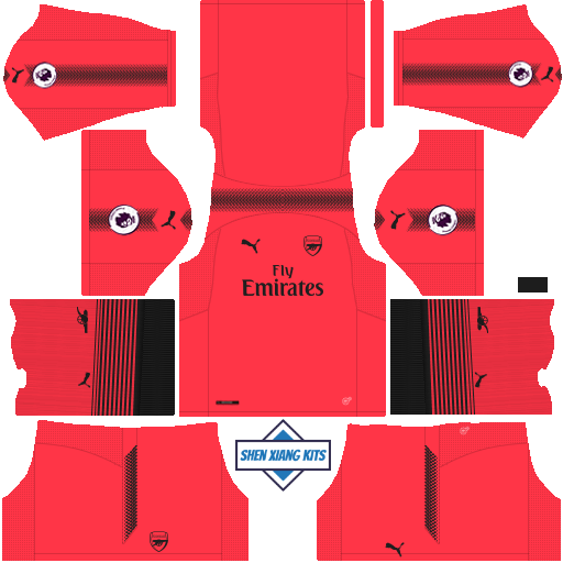 loading Dream League Soccer Arsenal Kit   Logo 2017-2018 Arsenal DLS Kits ebead6d74