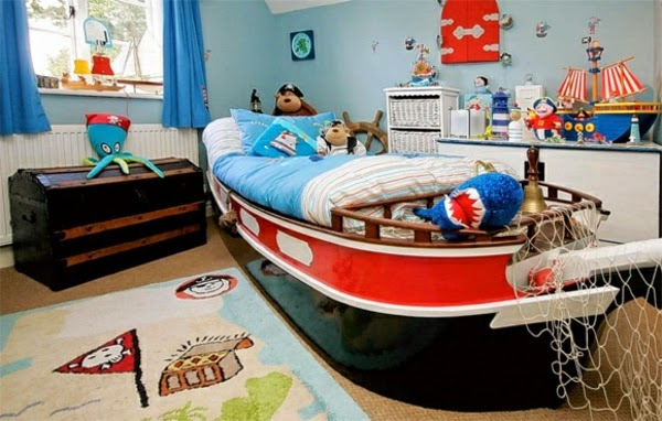 Dormitorio infantil tema pirata