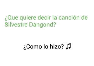 Significado de la canción ¿Comó lo Hizo? Silvestre Dangond.