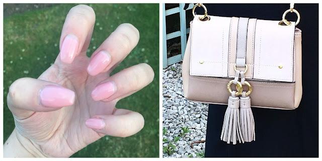 Nude River Island Handbag, Nude pink nails