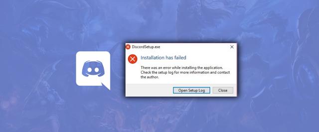 แก้ปัญหา Discord ลงไม่ได้ Installaion has failed