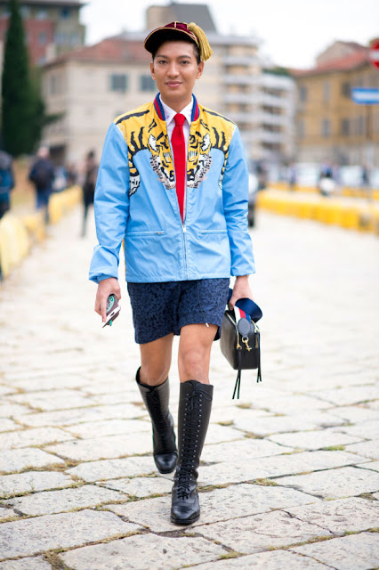 Bryanboy wearing Gucci in Milan. Photo: Imaxtree