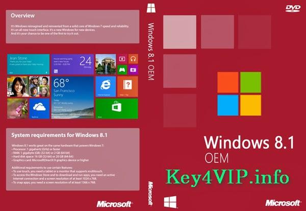 Bán key bản quyền Windows 8.1 Pro