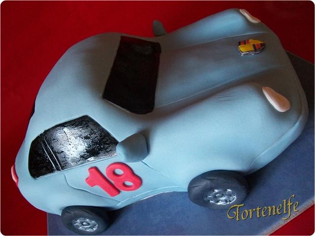 Tortenelfes Blog Backe Backe Kuchen Ein Porsche Zum 18