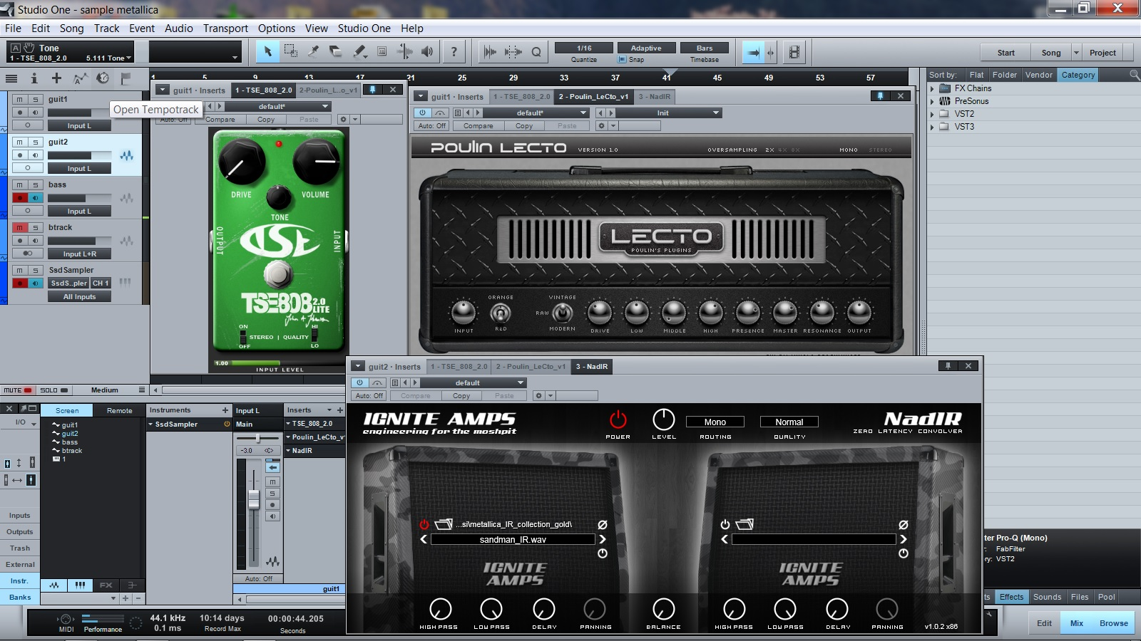 atoragon 39 s guitar nerding blog how to sound like metallica with sample and using only free. Black Bedroom Furniture Sets. Home Design Ideas