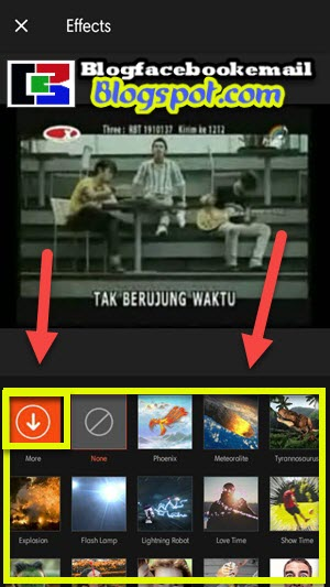 download efek api di aplikasi videoshow hp