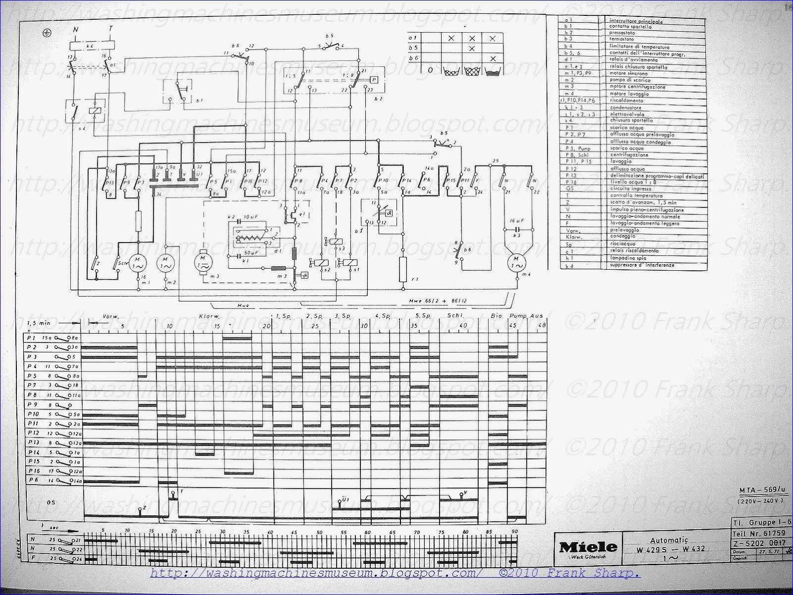Washer Rama Museum: MIELE AUTOMATIC W429S  W432 SCHEMATIC DIAGRAM