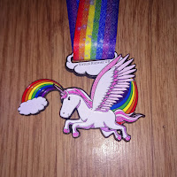 Fitbitches : My Running Medals in 2017 - Virtual Runner Unicorn Medal