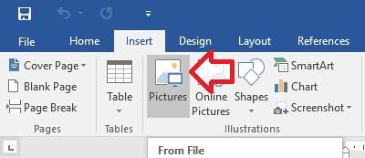 Menambahkan Gambar di Microsoft Word