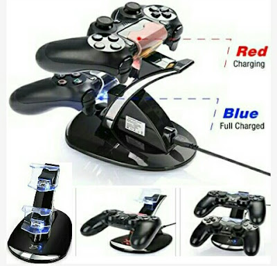 Playstation 4 Controller Charger - Dual USB Charging Dock Station