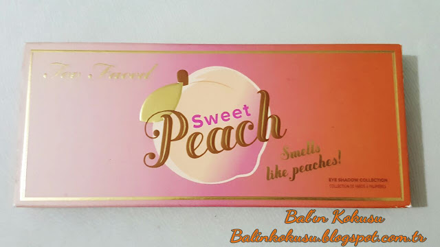 too faced sweet peach paletı