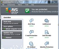 avg 2012 free edition anti vurus download