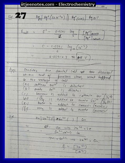 Electrochemistry Notes11