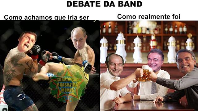 RESUMO DO PRIMEIRO (CALMO) DEBATE PRESIDENCIAL