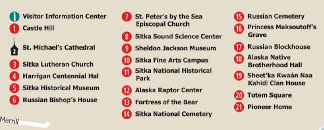 Sitka map, 地圖