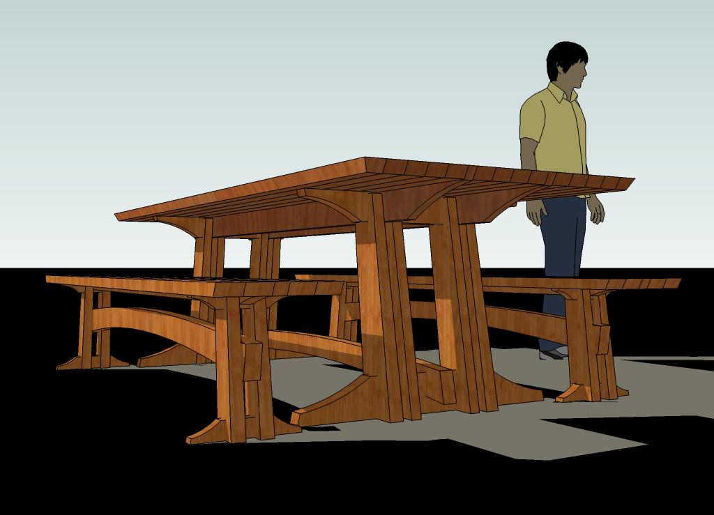 IDVW Design: Building a Large Trestle Table - Part 1