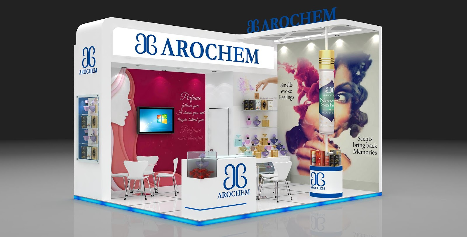 Cosmetic Exhibition Stand Design : Exhibition stall fabricator
