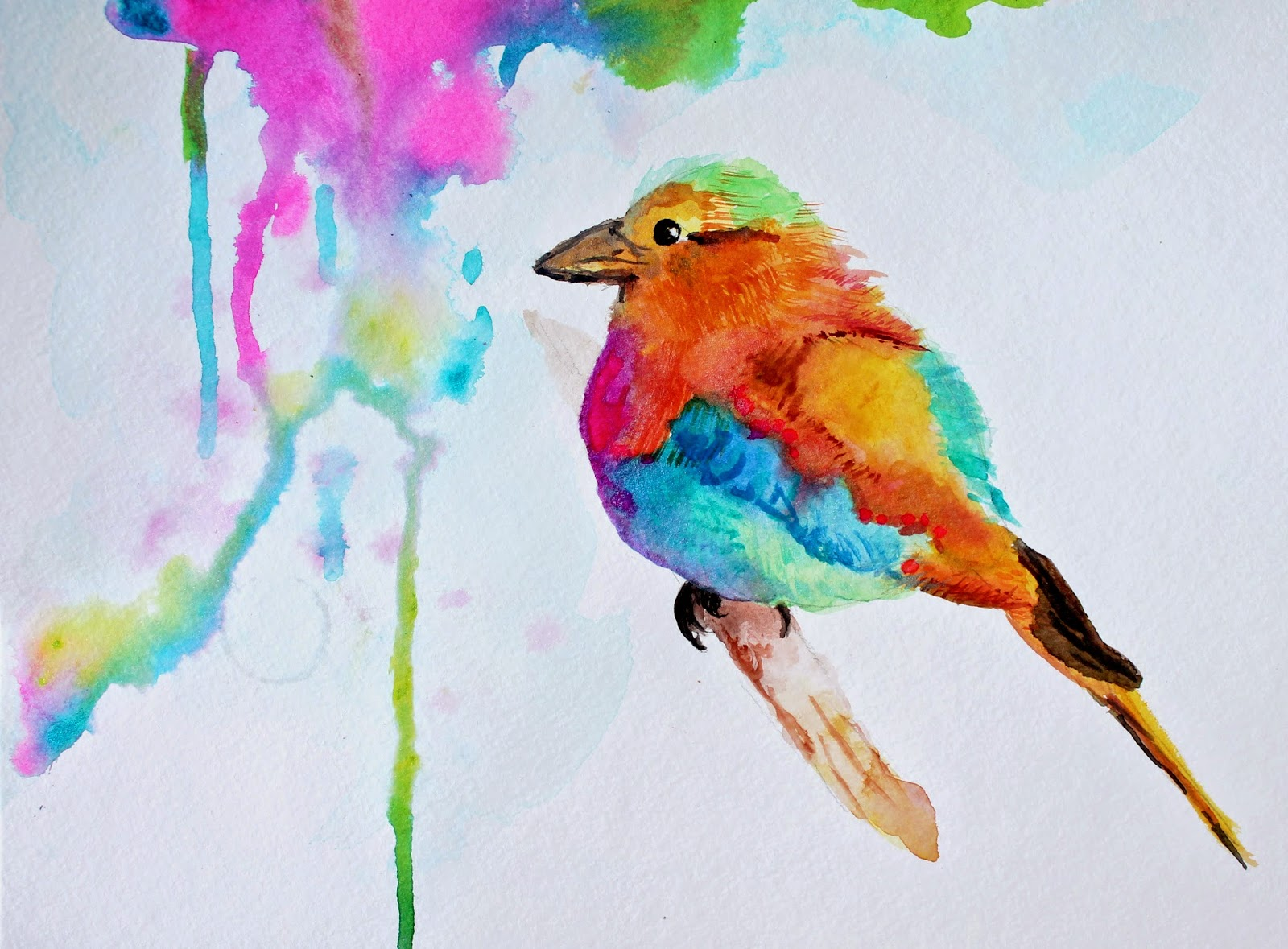 colorful watercolor bird painting marcia beckett