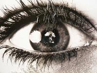 38 yeux reflètent des évènements du XXe siècle. Cet oeil reflète la bombe H