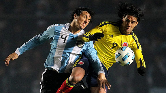 Argentina contra Colombia