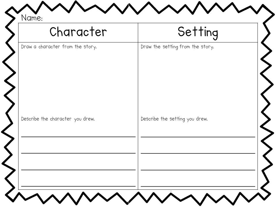 Character Setting Plot Worksheet 3rd Grade - Worksheets