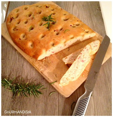 image Focaccia romarin, bacon, huile d'olive