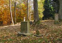 Pozostałości przycerkiewnego cmentarza w Berehach Górnych.