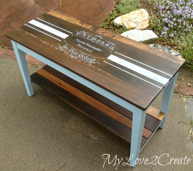 MyLove2Create, French Inspired Piano Bench Makeover