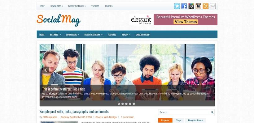 SocialMag Free Blogger Template