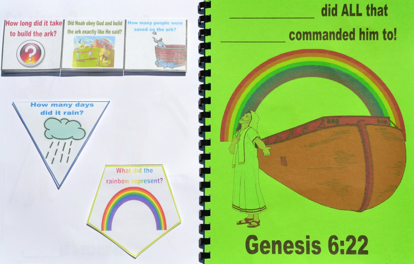 Bible Fun For Kids Genesis Lapbook Amp Cut Amp Glue Student