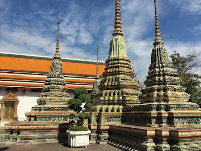 Inside Wat Pho in Bangkok Thailand