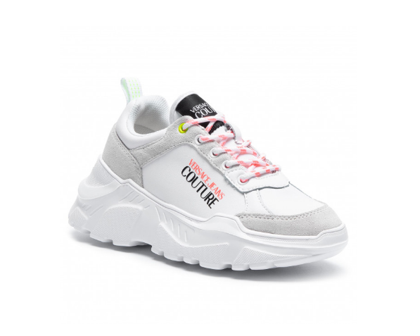 Sneakers VERSACE JEANS COUTURE  albi piele antilopa