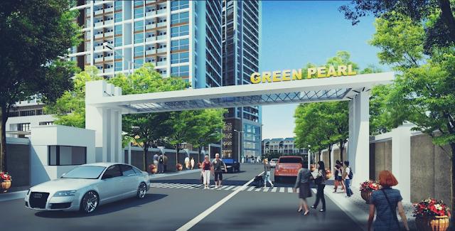 Cổng vào khu đô thị Green Pearl