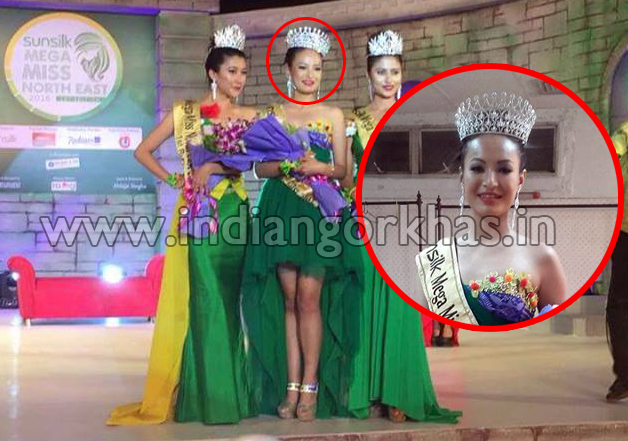 Gorkhas daughter Meriya Subba from Sikkim wins the 14th Edition of Sunsilk Mega Miss Northeast 2016 powered by Mega Entertainment.