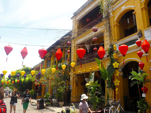 Lanterns in the streets of the old town of Hoi An, Vietnam