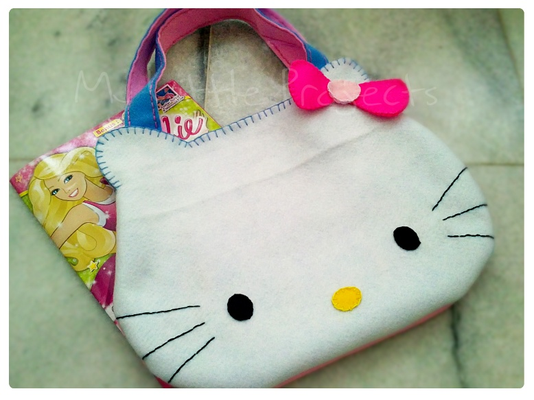 My Little Projects: {Tutorial} Felt Hello Kitty Face Bag