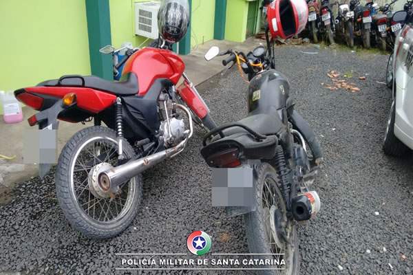 Moto furtada em Canoinhas é encontrada em Major Vieira