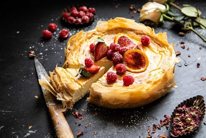 #whipped #lemon #ricotta #cheesecake