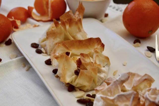cestos de clementinas e frutos secos