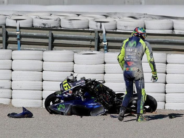 Rossi Ungkap Soal Kecelakaannya di Valencia