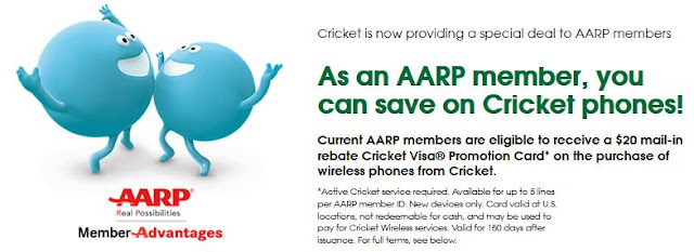 Cricket Wireless aarp cell phone discount